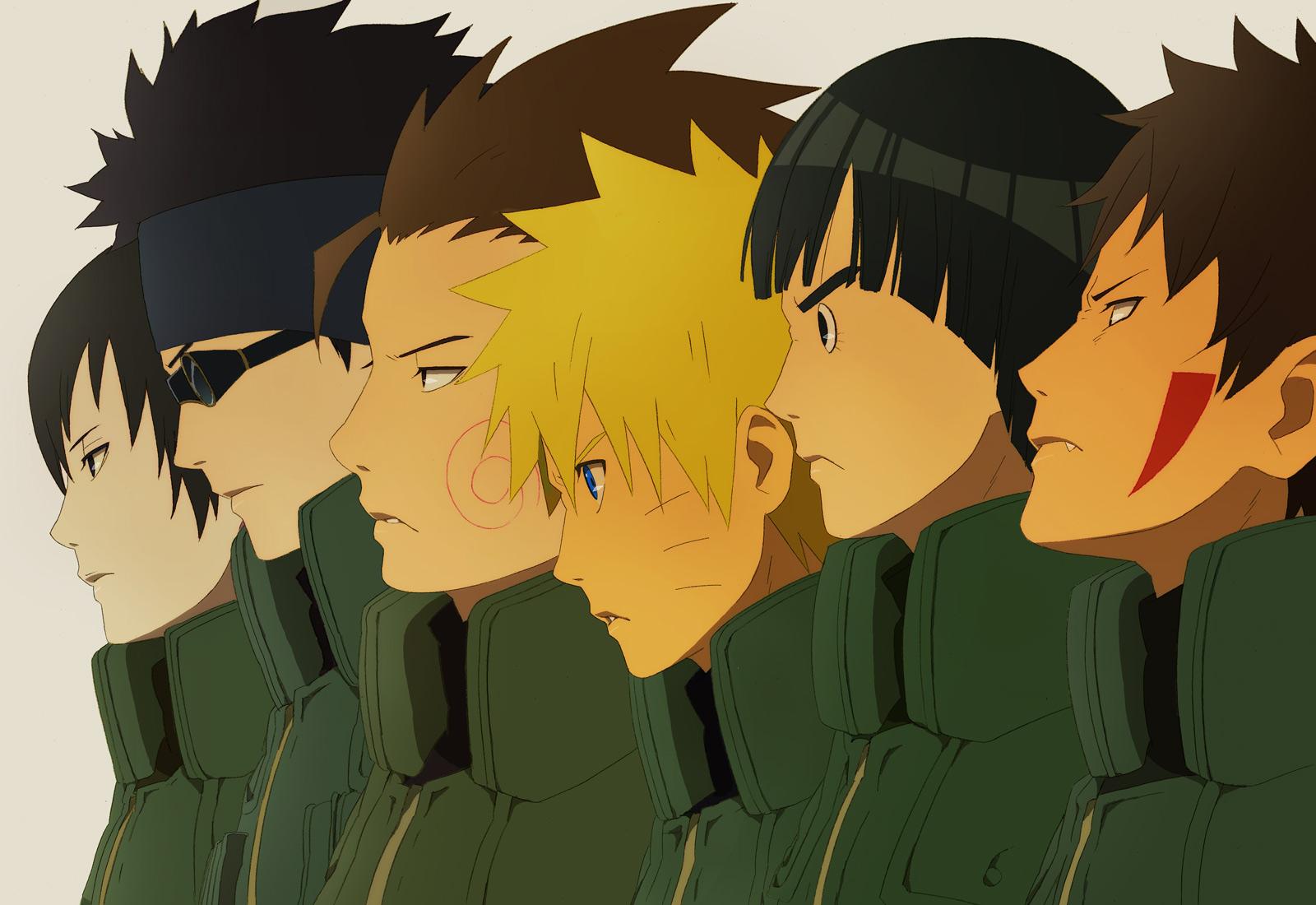 Akimichi Choji Blonde Hair Brown Fang Group Headband Male