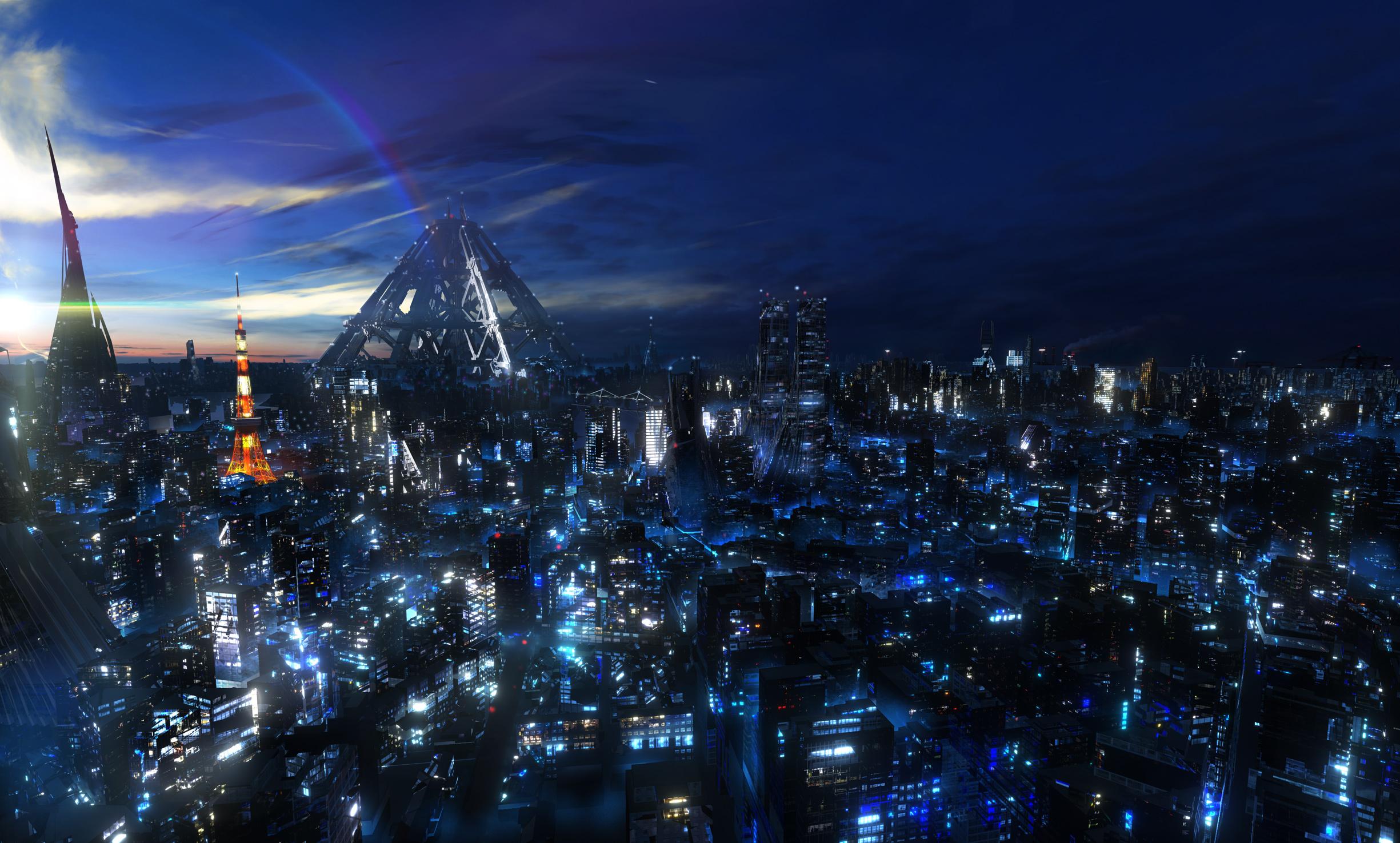 Anime City Landscape -...