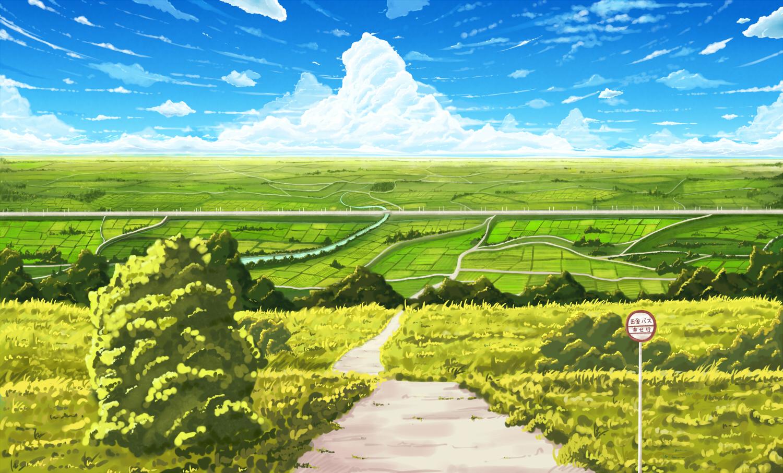 Corn [Shouhei/Yuri] Clouds,%20grass,%20landscape,%20original,%20pei%20sumurai,%20scenic,%20sky