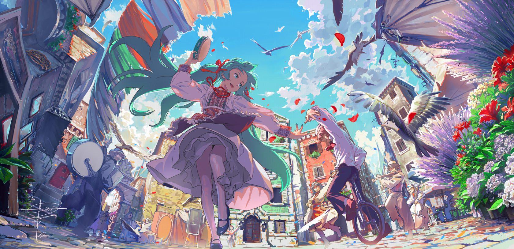 anime landscape hatsune miku - photo #33