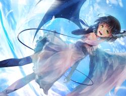 yuurai , dress , elbow_gl…