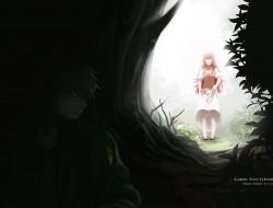 girl dark woods
