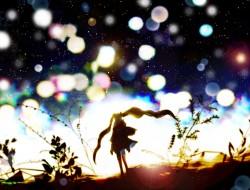 tsune_miku , silhouette ,…