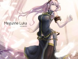 long_hair , megurine_luka…