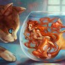 animal, cat, fish, mermai…