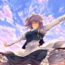 sky, dress, Touhou, Cloud…