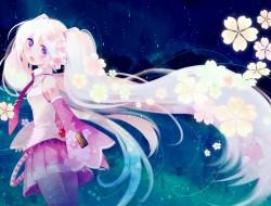flowers, hatsune miku, lo…