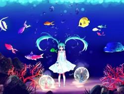 animal, aqua eyes, aqua h…