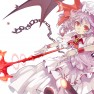 chain, red eyes, remilia …