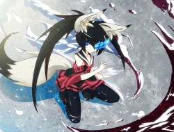 black rock shooter, blade…
