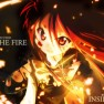 Fire, girl, weapon, sword…