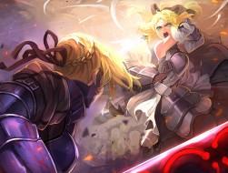 weapon, sword, Female, Fa…