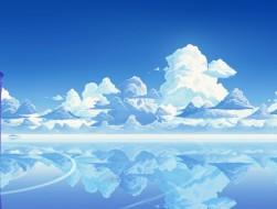 bunny, clouds, landscape,…