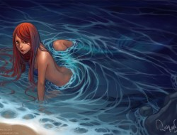 long hair, mermaid, orang…