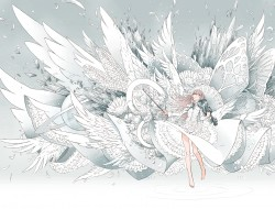 Wings, White, Red, Origin…