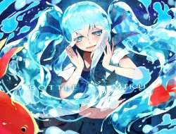 animal, bottle miku, fish…