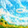 sky, Original, flowers, s…