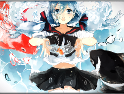 animal, bottle miku, bubb…