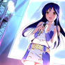 blue hair, feathers, idol…