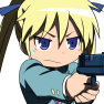 blonde hair, gun, kill me…