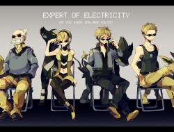 blonde hair, denji, gray …