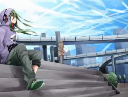 fu-ta, green hair, kagero…
