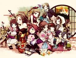 multiple characters, nene…