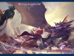 dnatkbb, dragon, pixiv fa…