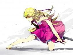 barefoot, blonde hair, it…
