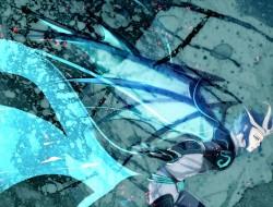 blue, wings, blue hair, p…