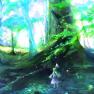 dress, forest, green hair…