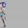 armor, blue eyes, blue ha…
