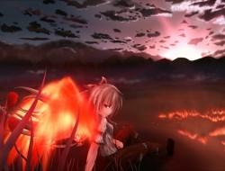 fire, fujiwara no mokou, …