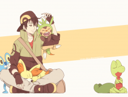 brown hair, chespin, fenn…