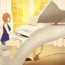 brown hair, piano, short …