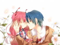 angel beats, flowers, hin…