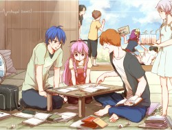 angel beats, book, drink,…