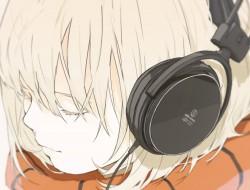 headphones, close-up, sho…