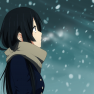 akiyama mio, k-on, snow