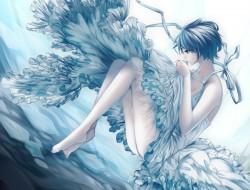 barefoot, blue eyes, blue…