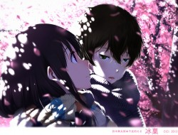 cherry blossoms, chitanda…