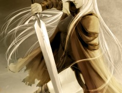 Claymore , long hair , Ir…