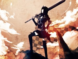 black rock shooter, doten…