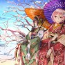 2girls, cherry_blossoms, …