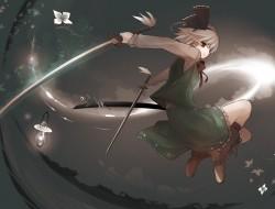 konpaku_youmu, sword, tok…