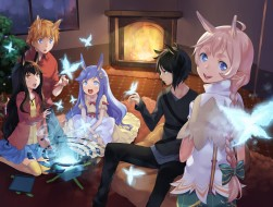 animal_ears, aqua_eyes, b…