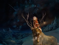 animal, christmas, horns,…