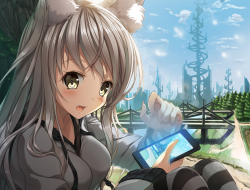 animal_ears, foxgirl, ori…