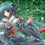 dress, green_hair, long_h…