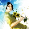 Black hair, Sunflowers, B…